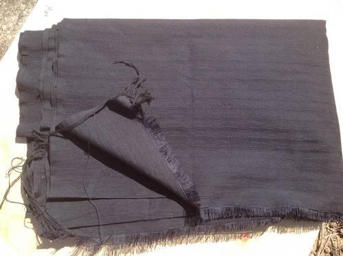 Fabric hand loomed in Khon Kaen Thailand, heavy weave cotton, black