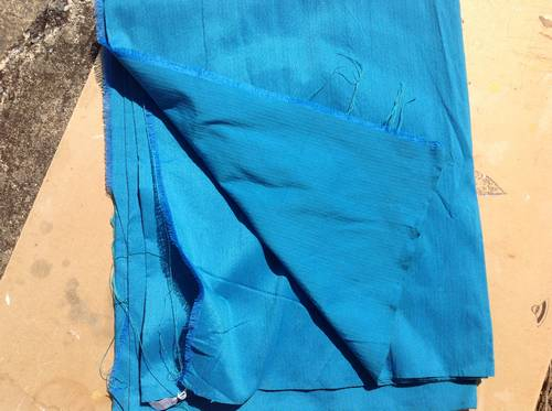 Heavy weave cotton fabric from Thailand in stunning Turquoise, heavy weaving for furnishing
