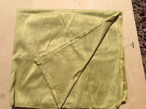 Hand loomed silk fabric Chartreuse green available in Brisbane